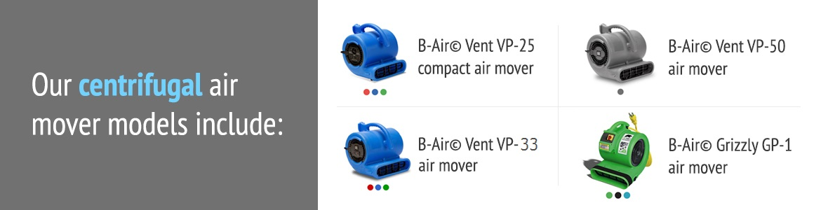 B-Air Centrifugal Air Movers