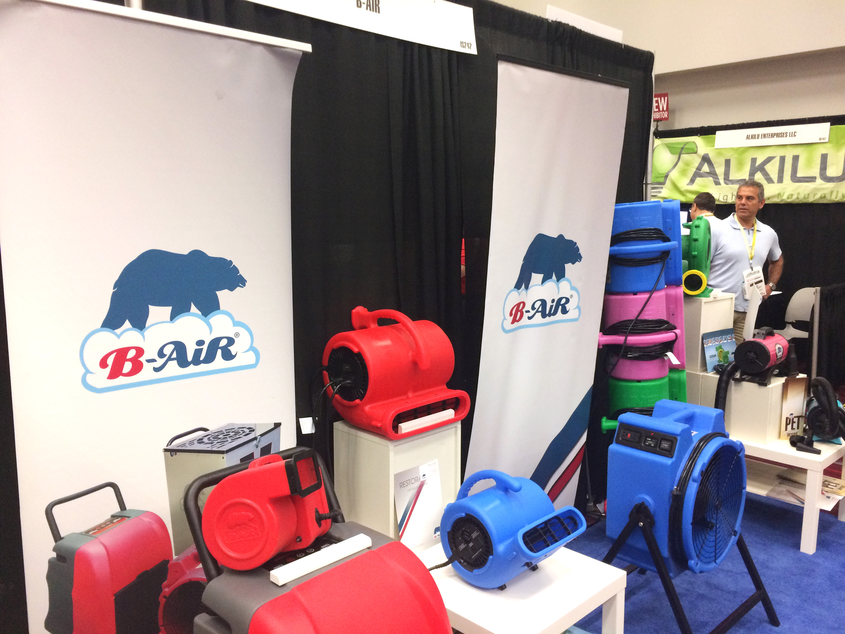 B-air products during expo