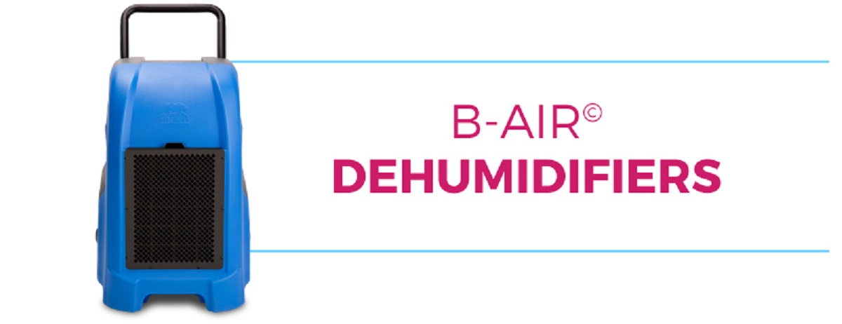 B-Air dehumidifiers title banner