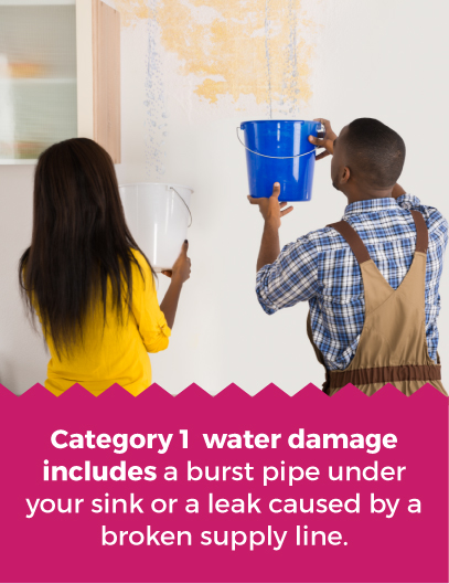 Category 1 water damage