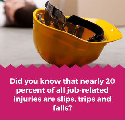 20 percent job injuries from falls