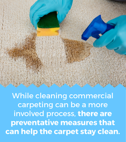 Preventative cleaning for commercial caprpets