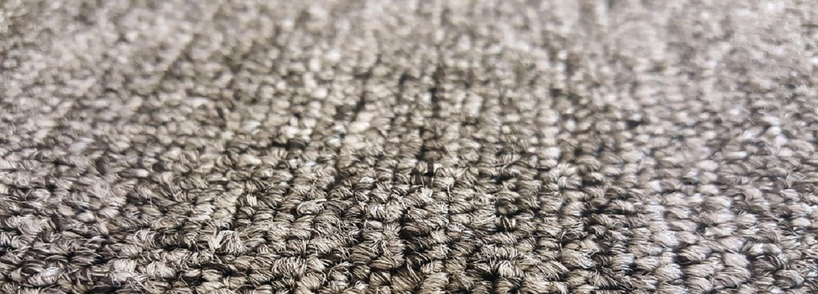 Carpet fibers up close